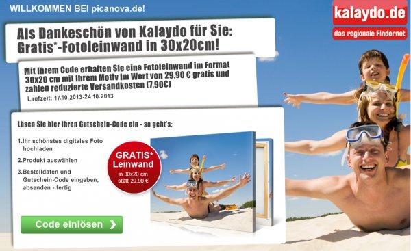 GRATIS Leinwand statt 29,90€