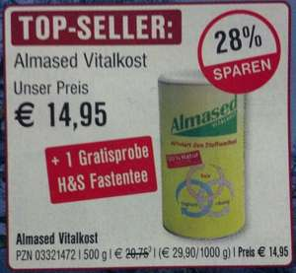 [LOKAL:KASSEL] Almased 500g (-28%) für 14.95€+Gratisprobe