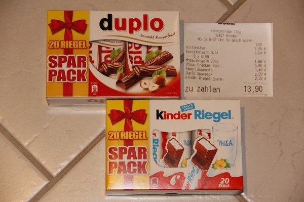 Duplo / KinderRiegel 20er SparPack@LIDL.de