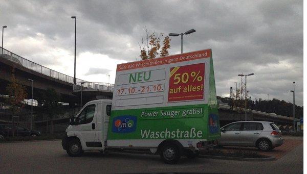 Bundesweit? 50% auf alle Wäschen + Sauger gratis bei IMO - Wash in Esslingen (somit günstigste Wäsche 3 €)