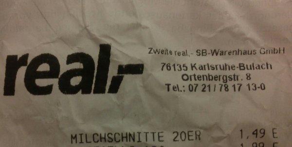 (local) Karlsruhe Bulach Milchschnitte 20 Stck. 1,49€ MHD 20.10.