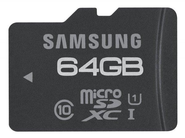 Samsung Pro microSDXC 64GB Class 10 UHS-I für nur 44,99 EUR inkl. Versand