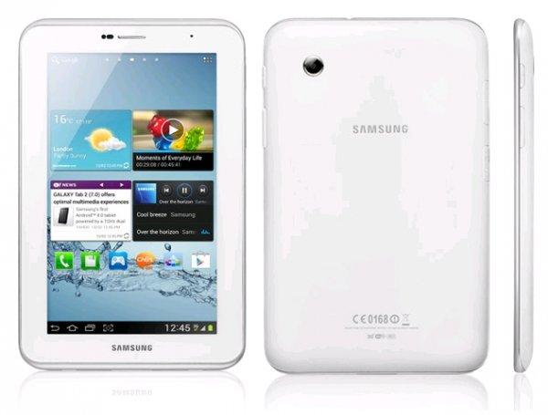 Samsung Galaxy Tab 2 P3110 8GB WiFi für 124,99€ inkl. Versandkosten