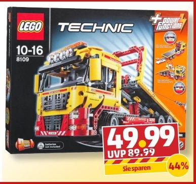 Ab 21.10. Lego Technic  8109 Tieflader für 49,99 € bei Penny