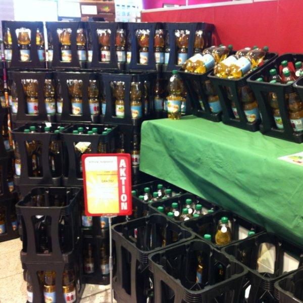 1 Flasche Teinacher Apfelsaftschorle GRATIS zu jedem Einkauf