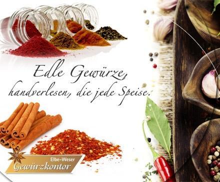 Pro7Products/Dailydeal: 7,50 Euro statt 19 Euro für Pfeffer, Chili, Masala, Curry, Salz, Zucker, Kräuter – feinste Gewürze, handverlesen, vom Elbe-Weser-Gewürzkontor
