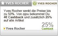 25% + 4€ Cashback + 50% Sommer Sale + Geschenk @Yves Rocher