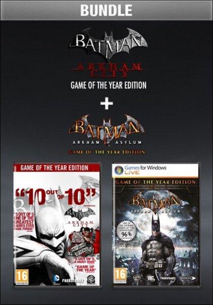 Batman Arkham City GOTY + Batman Arkham Asylum GOTY (Steam) für zusammen 7,08 €