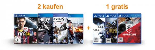 2 PS4 Spiele vorbestellen, 1 weiteres PS4 Spiel gratis erhalten ***Aktion jetzt live!***