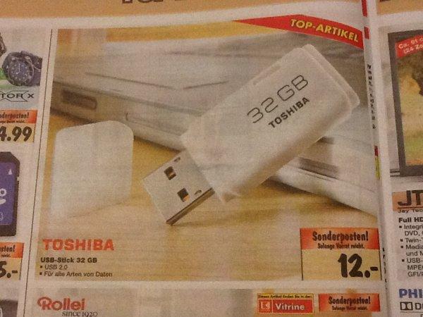 [Kaufland] TOSHIBA TransMemory Hayabusa USB Flash Drive 32GB Stick 12€