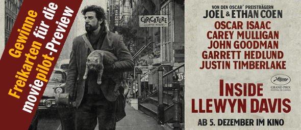 """Mit ein wenig Glück komplett kostenlos ins Kino zur MOVIEPILOT PREVIEW """"INSIDE LLEWYN DAVIS"""""""