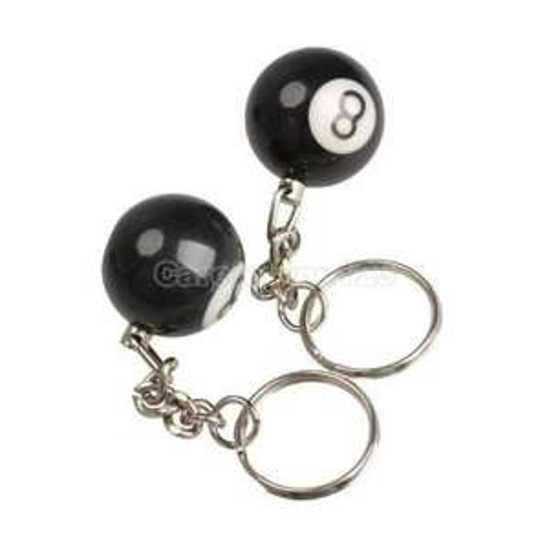Zwei Eightball-Schlüsselanhänger (Ebay CN) für 1,33€ inkl. Versandkosten