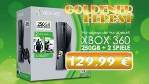 [Lokal + offline] XBox 360 (Slim) 250GB Batman: Arkham City & Darksiders 2 Bundle