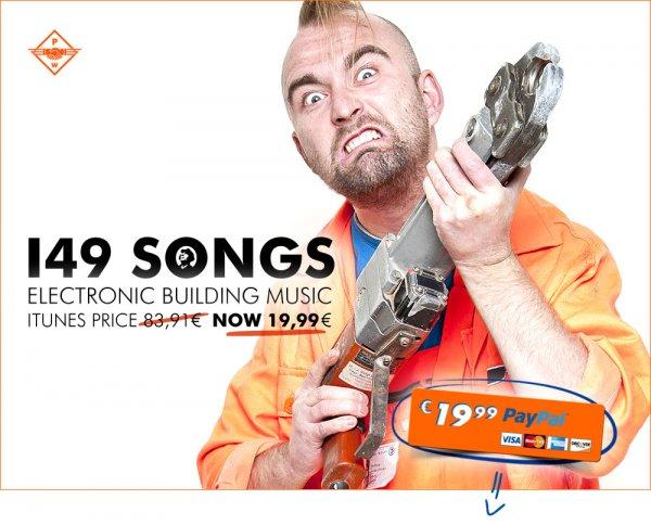 11 Alben (186 Songs) von Patenbrigade: Wolff für 19,99€