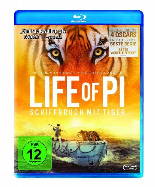 Life of Pi [Blu-ray] für 8,97 € @Amazon.de (Blitzangebot)