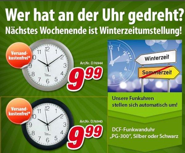 "Hama™ - DCF-Funkwanduhr ""PG-300"" (Schwarz,Silber) ab €9,57 [@Voelkner.de]"