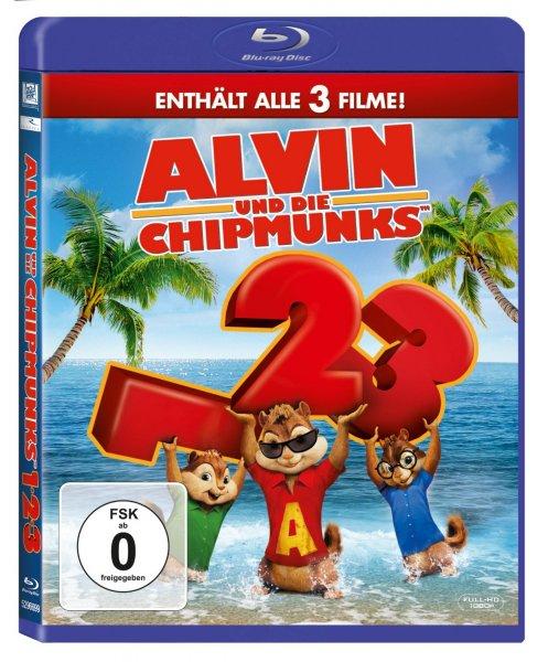 Alvin und die Chipmunks - Teil 1-3 [Blu-ray] für 16,62 € @ amazon.de