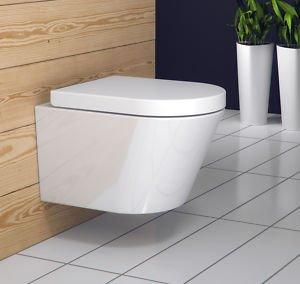 Design Wand-Hänge WC/Toilette inkl. Soft Close WC Sitz für nur 63,99 EUR inkl. Lieferung