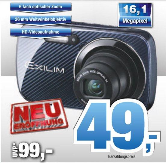 [LOKAL Cuxhaven EXPERT ]  Casio Exilim EX-N50SR Digitalkamera (16,1 Megapixel, 6,9 cm (2,7 Zoll) Display, 6-fach opt. Zoom, Make-up Modus, Gesichtserkennung-Funktion 49,-€