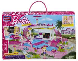 Barbie: MEGA Bloks Barbie - Build 'n Style Pool Party für nur 21,05 EUR inkl. Versand