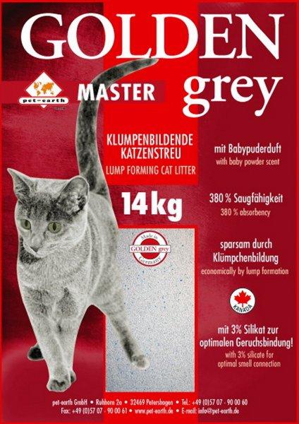Golden Grey Master Katzenstreu 14 kg + 7kg gratis *Zooplus*