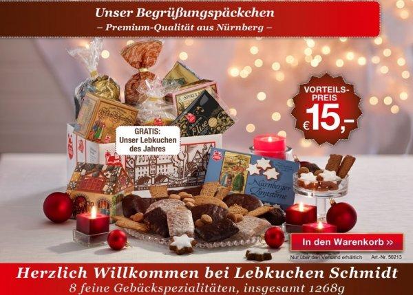 [WEBCENT] Lebkuchen-Schmidt Begrüßungspäckchen für effektiv 7,25 €