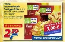 Real Waiblingen Frosta Tiefkühl 2,29€