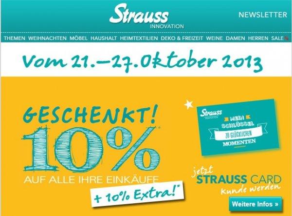 Die StraussCard erhalten Sie nur diese Woche KOSTENLOS i