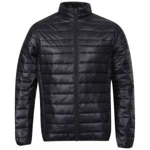 [The Hut] BRAVE SOUL MEN'S SKI PUFFA JACKET - NAVY/BURGUNDY