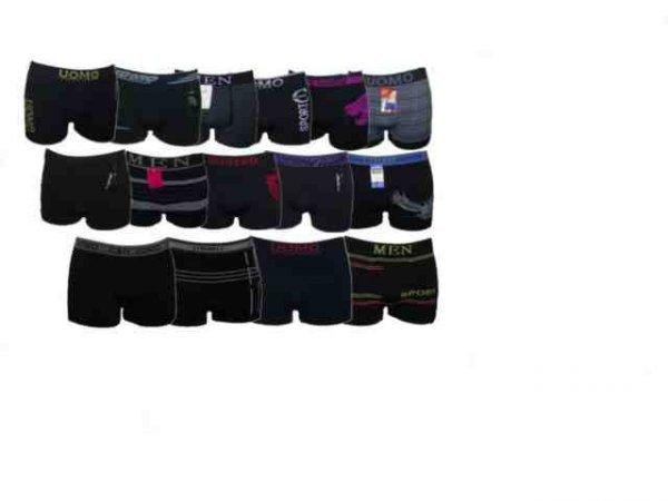 20x Boxershorts UOMO Retro Pants Mikrofaser Unterhosen M L XL XXL