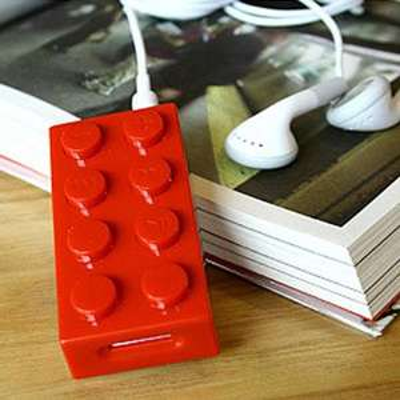 @Ebay: origineller MP3-Player als Legostein 6,73 € , Versand kostenlos , 5 versch. Farben