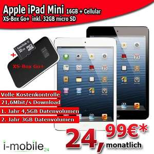 Apple iPad mini inkl. 4G Systems XSBos Go+ mit 32GBmicroSD mit Vodafone Mobile Internet 21,6Mbit/s