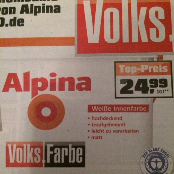 Alpina Weiße Innenfarbe