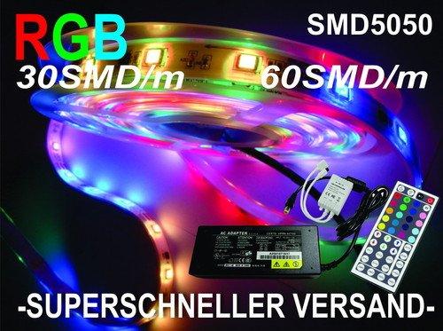 5M 60LED/m 5050 SMD RGB LED Strip (ohne Netzteil)