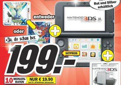 [Lokal Neunkirchen/Saar] Mediamarkt 3DS XL + Pokemon X oder Y + Ladekabel 199,- €