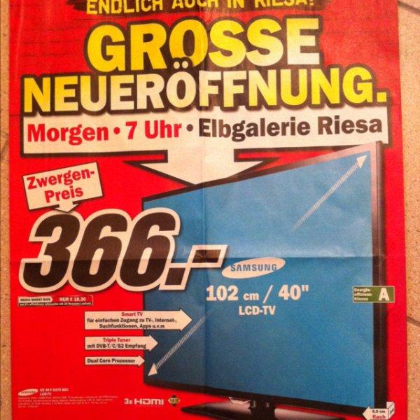 [lokal] Riesa MM Neueröffnung Samsung LCD UE40F5370 für 366,-€ und weitere Angebote im Prospekt