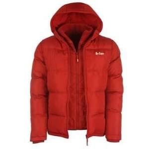 Lee Cooper Cooper 2 Zip Bubble Jacket Mens