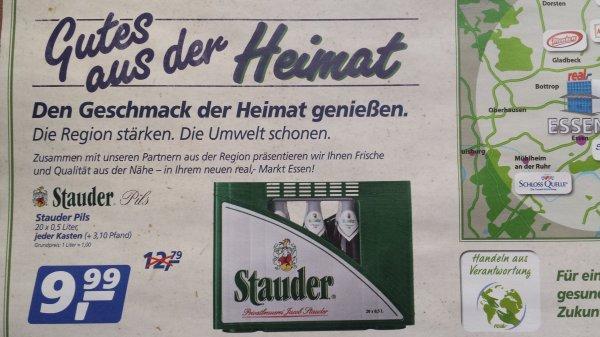 [Lokal]: Kasten Stauder Pils (20x 0,5 L) für 9,99 Euro bei Real in Essen-Altendorf am 24.10.2013