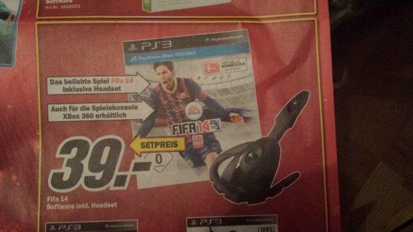(Lokal Karlsfeld München) Fifa 14 x09+ headset für 39€ PS3 und Xbox360