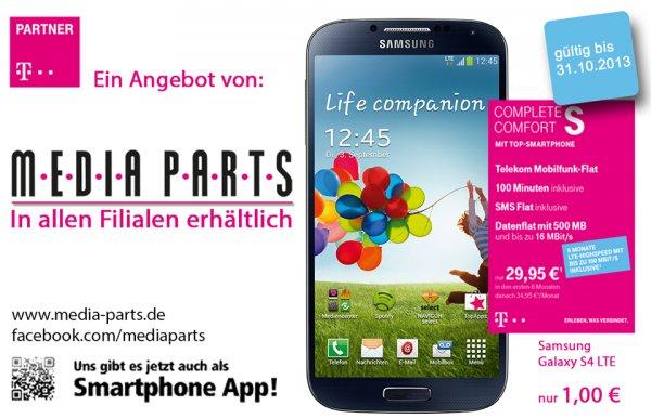 [LOKAL] BIT/MY/KO/COC Telekom Neuvertrag Complete Comfort S mH (34,95€/mtl)+Galaxy S4 für 1€ (effektiv 16€/Monat)