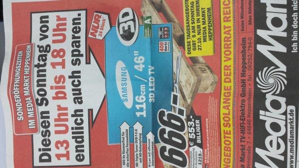 Samsung 46F6640 für 666€ im Mediamarkt Heppenheim