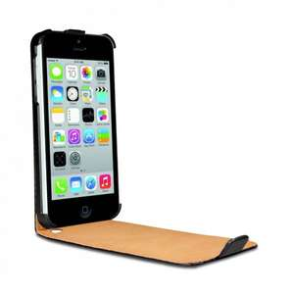 KOLAY iPhone 5S Hülle in Schwarz - Apple iPhone 5S Leder Case Etui Schutzhülle + Stylus (Eingabestift) für nur 2,01€ [ Amazon ]