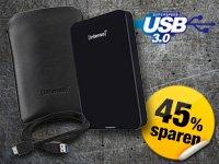 """Intenso Externe Festplatte 2,5"""" 1TB USB 3.0 schwarz inkl. Tasche"""