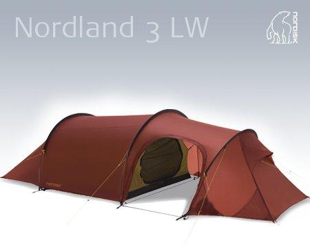 Nordisk Nordland 3 LW - sehr leichtes 3 Personen-Zelt zum Toppreis von 500.-€ statt ca. 700.-€