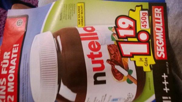 Nutella 450g für 1,19€