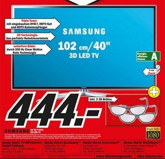 "LOKAL Raum Stuttgart Media Märkte / Samsung UE40F6170 / 3D LED TV / 40"""