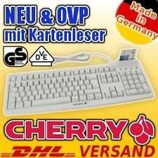 Cherry USB Tastatur mit Chipkartenleser (HBCI), deutsches Layout