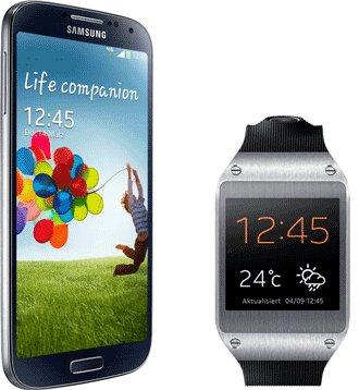 Handy Flat + Samsung Galaxy S4 inkl. Galaxy Gear für effektiv 2,41€