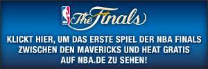 NBA Finals 2011: Dallas vs. Miami - Spiel 1 kostenlos auf NBA.de