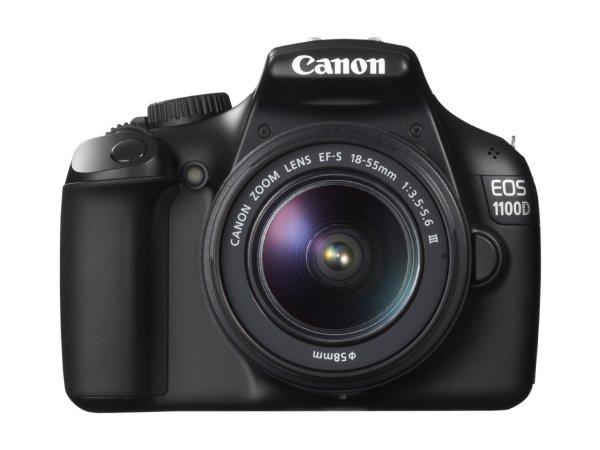Canon EOS 1100D Digitale Spiegelreflex Kamera 12 Megapixel + Objektiv EF-S 18-55 III DC
